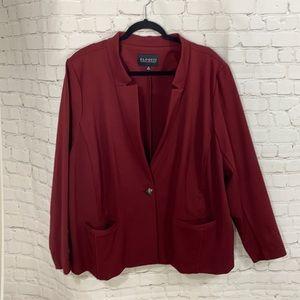 Eloquii maroon blazer
